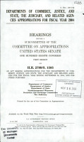 Departments of Commerce  Justice  and State  the Judiciary  and Related Agencies Appropriations for Fiscal Year 2004 PDF
