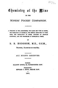 Chemistry of the Mine  Or  The Miners  Pocket Companion PDF