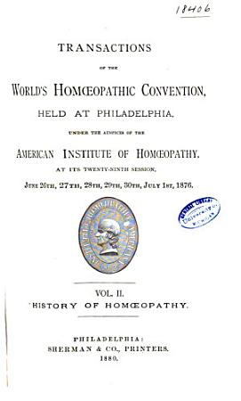 Transactions of the     Session of the American Institute of Hom  opathy PDF