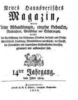 Neues hannoversches Magazin PDF