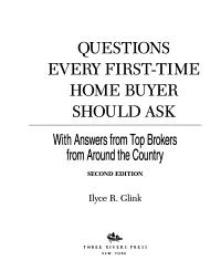 100 Questions Every First time Home Buyer Should Ask Book