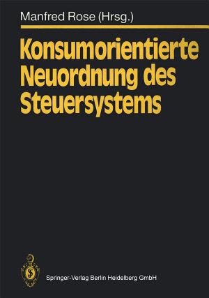 Konsumorientierte Neuordnung des Steuersystems PDF