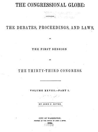 The Congressional Globe PDF