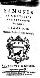 Institutorum rei militaris libri octo