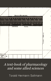 A Text-book of pharmacology and some allied sciences