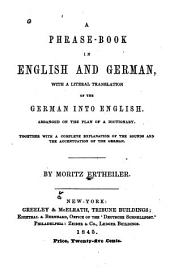 A Phrase Book in English and German ...