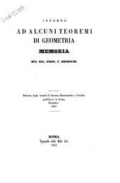 Intorno ad alcuni teoremi di geometria: memoria