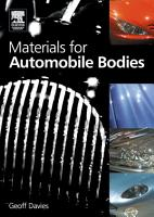 Materials for Automobile Bodies PDF