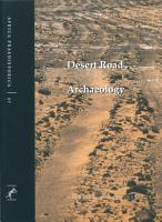 Desert road archaeology in ancient Egypt and beyond PDF