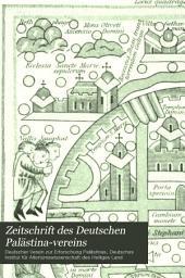 Zeitschrift des Deutschen Palästina-Vereins: Band 15,Ausgabe 1