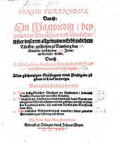 Concio Threnodica. Das ist: Ein Klagpredig, bey gemainer Proceszion vnd Bittfahrt, wider vnserem allgemainen Erbfeindt dem Türcken: geschehen zu Bamberg den 19. Octobris, verschinens 94. Jares: im Barfüsser Closter