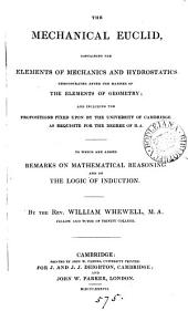 The mechanical Euclid, containing the elements of mechanics and hydrostatics
