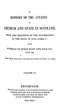 History of the Affairs of Church and State in Scotland PDF
