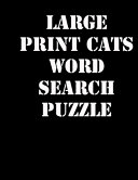 Large Print Cats Word Search Puzzle