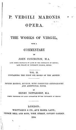 P  Vergili Maronis opera  The first six books of the Aeneid PDF