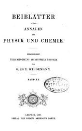 Annalen der Physik: Beiblätter, Band 11