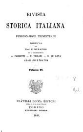 Rivista storica italiana: Volume 6
