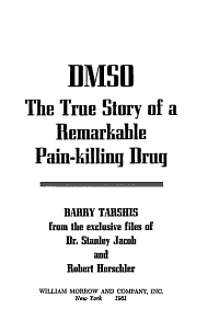 DMSO  the True Story of a Remarkable Pain killing Drug PDF