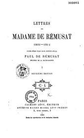 Lettres de Mme de Rémusat: 1804-1814