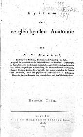 System der vergleichenden Anatomie: Band 3
