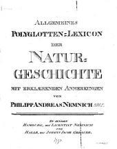 Allgemeines Polyglotten-Lexicon der Naturgeschichte: mit erklærenden Anmerkungen