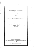 Periodicity of Sex Desire PDF