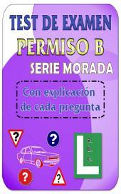 Test de examen de conducir DGT permiso B - Turismos: Los mejores test de autoescuela para el permiso de conducir B - Serie morada