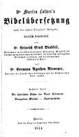 Dr  Martin Luther s Bibel  bersetzung PDF