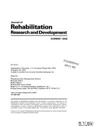 Journal of Rehabilitation Research and Development PDF