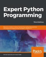 Expert Python Programming  PDF