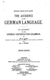 The Accidence of the German Language: An Appendix to the German Conversation-grammar