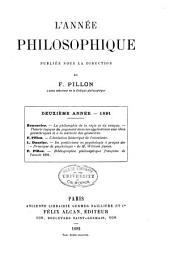 L'Annee Philosophique: Volume2