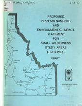 Draft environmental impact statement, small wilderness study areas statewide