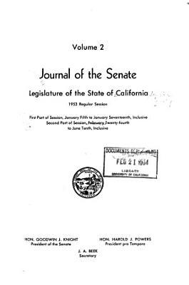 Journal of the Senate  Legislature of the State of California PDF