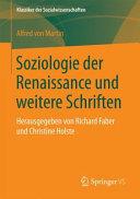 Soziologie der Renaissance und weitere Schriften PDF