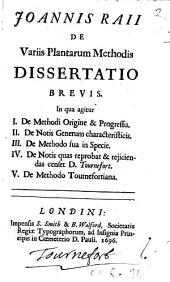 De variis plantarum methodis dissertatio