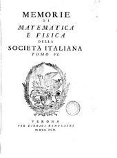 Memorie Di Matematica E Fisica Della Societa Italiana