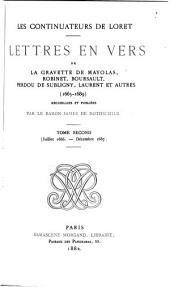 Les continuateurs de Loret: Juilet 1666-decembre 1667