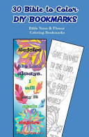30 Bible to Color Diy Bookmarks