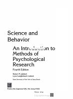 Science and Behavior PDF