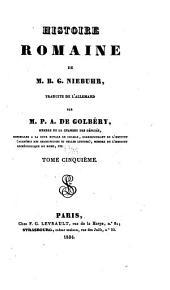 Histoire romaine de m. B. G. Niebuhr: Volume5