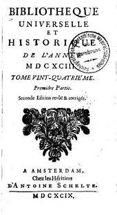 Bibliothèque universelle et historique: Volume24