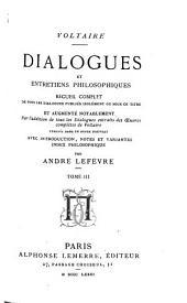 Dialogues et entretiens philosophiques: Volume3