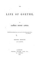 The Life of Geothe  Second Edition  Partly Rewritten PDF
