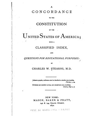 A Concordance to the Constitution of the United States of America PDF