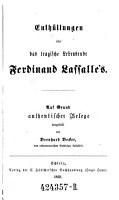 Enth  llungen   ber das tragische Lebensende Ferdinand Lasalle s PDF
