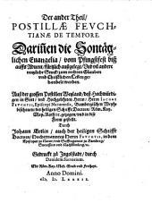 Epitome postillae Feuchtiana maioris de tempore: Volume 2