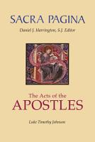 Sacra Pagina  The Acts of the Apostles PDF