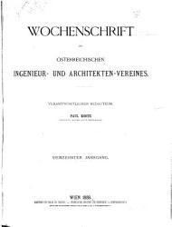 Wochenschrift des   sterreichischen Ingenieur  und Architekten Vereines       PDF