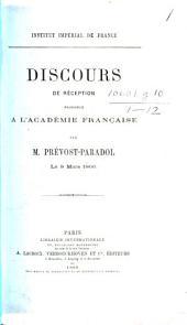 Discours de réception prononcé à l'Académie française